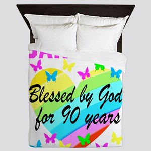 BLESSED 90TH Queen Duvet