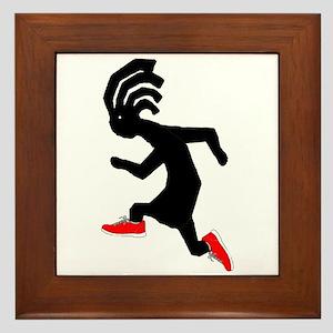 Kokopelli Runner Framed Tile