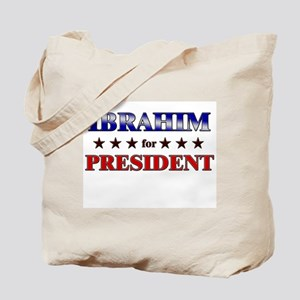IBRAHIM for president Tote Bag