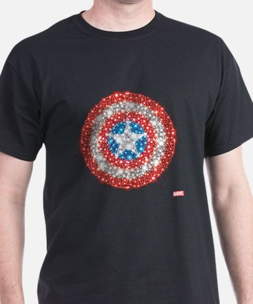 Captain America Shield Bling T-Shirt