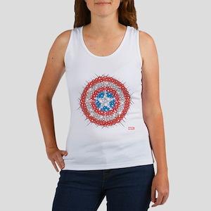 Captain America Shield Bling Women's Tank Top