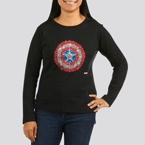 Captain America S Women's Long Sleeve Dark T-Shirt