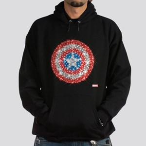 Captain America Shield Bling Hoodie (dark)
