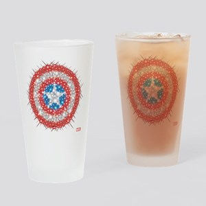 Captain America Shield Bling Drinking Glass
