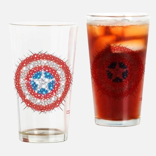 Captain America Shield Bling Drinking Glass