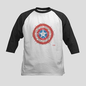 Captain America Shield Bling Kids Baseball Jersey