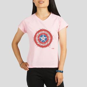 Captain America Shield Bli Performance Dry T-Shirt