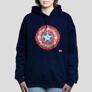 Captain America Shield B Women's Hooded Sweatshirt