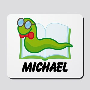 Book Worm Reading Personalized Mousepad