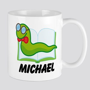 Book Worm Reading Personalized Mugs