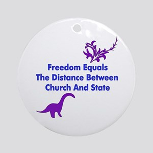 Separation of Church and Stat Ornament (Round)