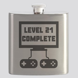 Level 21 Complete 21st Birthday Flask