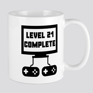 Level 21 Complete 21st Birthday Mugs