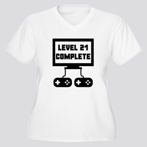 Level 21 Complete 21st Birthday Plus Size T-Shirt