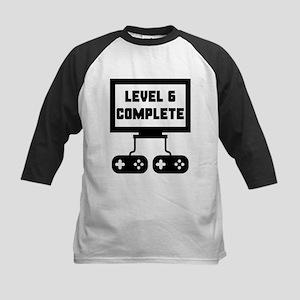 Level 6 Complete 6th Birthday Baseball Jersey