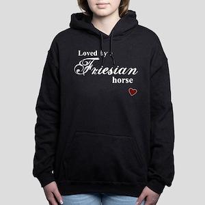 Friesian horse Women's Hooded Sweatshirt
