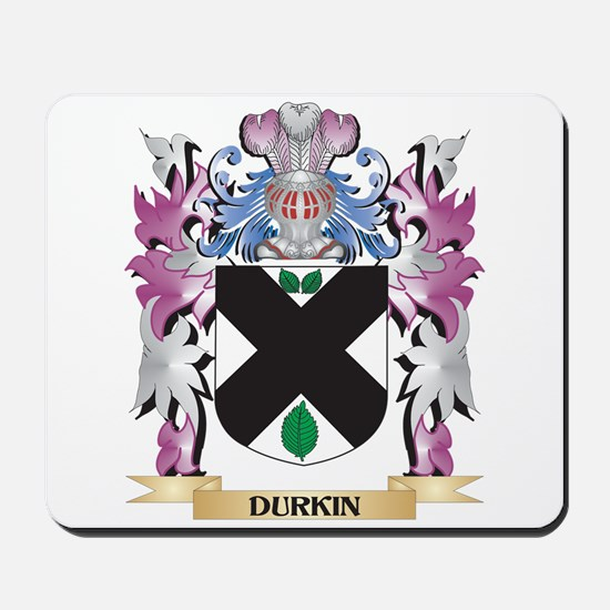 Durkin Coat of Arms (Family Crest) Mousepad