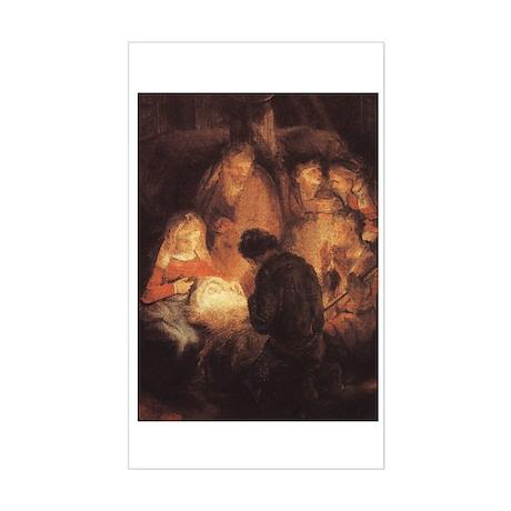 Holy Family Christmas Rectangle Sticker