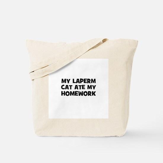My Laperm Cat Ate My Homework Tote Bag