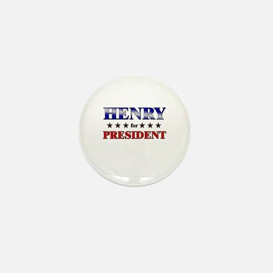 HENRY for president Mini Button
