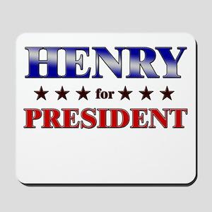 HENRY for president Mousepad