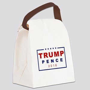 Modern Trump Pence 2016 Canvas Lunch Bag