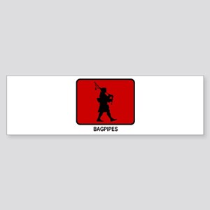 Bagpipes (red) Bumper Sticker