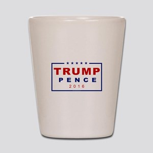Modern Trump Pence 2016 Shot Glass