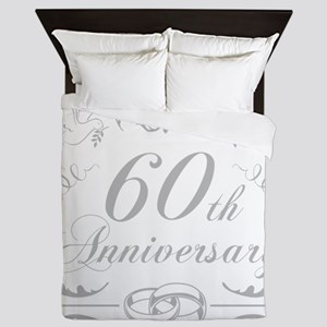 60th Wedding Anniversary Queen Duvet