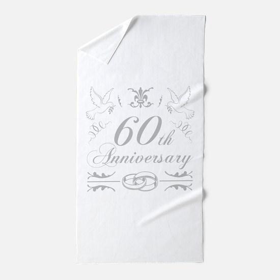 60th Wedding Anniversary Beach Towel