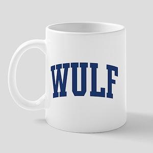 WULF design (blue) Mug