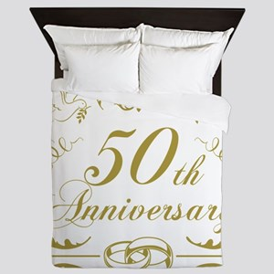 50th Wedding Anniversary Queen Duvet