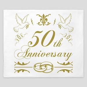 50th Wedding Anniversary King Duvet