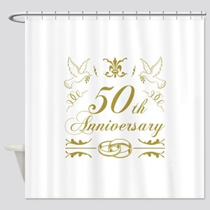 50th Wedding Anniversary Shower Curtain