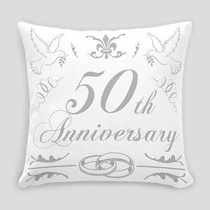50th Wedding Anniversary Everyday Pillow