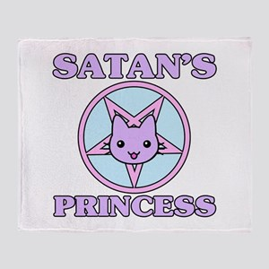 Satan's Princess Cute Throw Blanket