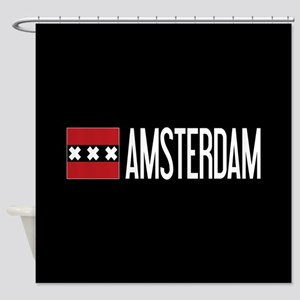 Netherlands: Amsterdam Flag & Amste Shower Curtain