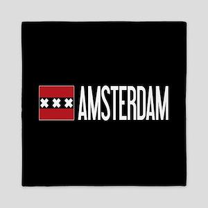 Netherlands: Amsterdam Flag & Amsterda Queen Duvet