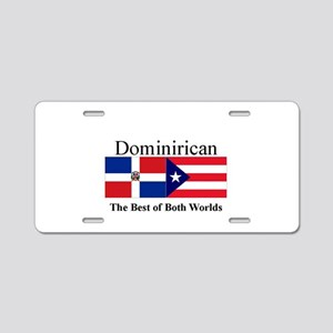 Dominirican Aluminum License Plate