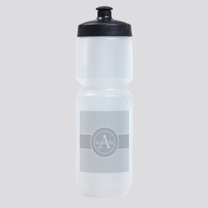Gray Monogram Personalized Sports Bottle