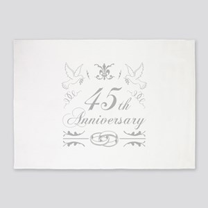 45th Wedding Anniversary 5'x7'Area Rug