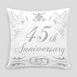 45th Wedding Anniversary Everyday Pillow