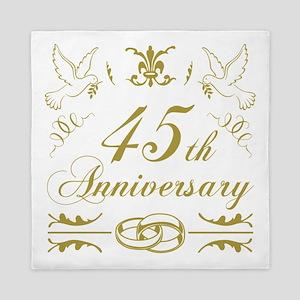 45th Wedding Anniversary Queen Duvet