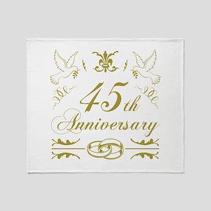 45th Wedding Anniversary Throw Blanket