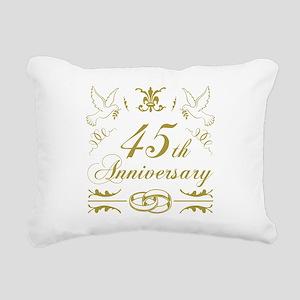 45th Wedding Anniversary Rectangular Canvas Pillow