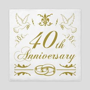 40th Wedding Anniversary Queen Duvet