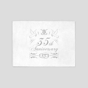 35th Wedding Anniversary 5'x7'Area Rug