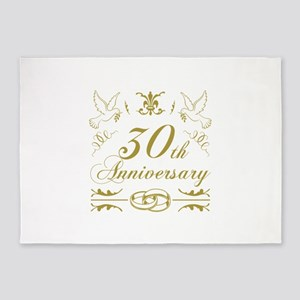 30th Wedding Anniversary 5'x7'Area Rug