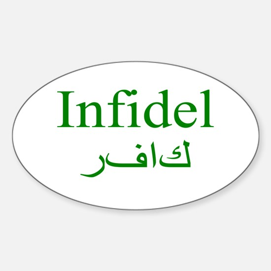 Infidel (green) - Oval Decal