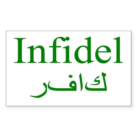 Infidel (green) - Rectangle Sticker